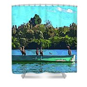 A Cormorant Cruise 2 Shower Curtain