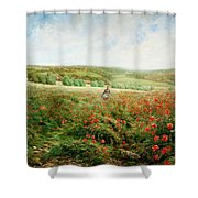 A Corner Of The Field In Bloom Shower Curtain