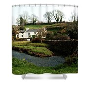 A Cornish Cottage By The Stream Shower Curtain