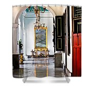 A Corridor In Keraton Sultan Palace Yogyakarta  Shower Curtain