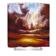 A Cosmic Storm - Genesis V Shower Curtain by James Christopher Hill