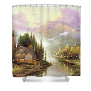 A Cottage At The Foot Of Mountain Shower Curtain