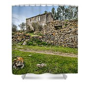 A Cottage In Ruins Shower Curtain