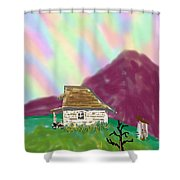A Cottage In The Alps Shower Curtain