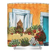 A Cottage In The Village Shower Curtain