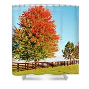 A Country Autumn Shower Curtain