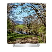 A Country Pathway In Northern England Shower Curtain