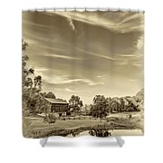A Country Place 3 - Sepia Shower Curtain