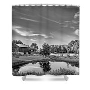 A Country Place Bw Shower Curtain