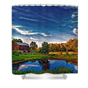A Country Place Painted Version Shower Curtain