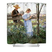 A Country Romance Shower Curtain