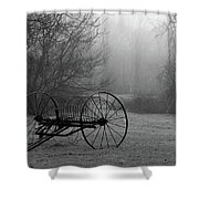 A Country Scene In Black And White Shower Curtain