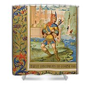 A Court Fool Of The 15th Century. 19th Shower Curtain