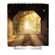 A Covered Bridge In New Market Shower Curtain