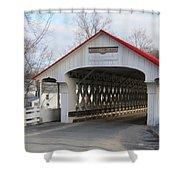 A Covered Bridge Shower Curtain