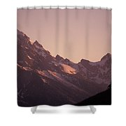 A Cowboy Horseback Riding Silhouetted Shower Curtain