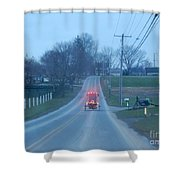 A Cozy Buggy Ride Home Shower Curtain