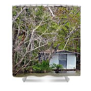 A Cozy Spot On The Apalachicola River Shower Curtain