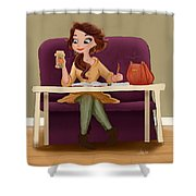 A Cozy Study Shower Curtain