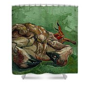A Crab On Its Back - 1988 Shower Curtain