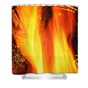 A Cracking Flame Shower Curtain