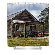 A Crooked Little Barn Shower Curtain