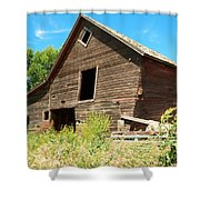 A Crooked Old Barn  Shower Curtain