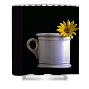 A Cup Of Flower Shower Curtain