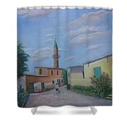 A Cypriot Village Shower Curtain
