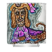 A Dachshund Easter Shower Curtain