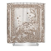 A Dance Around The Bubbles Shower Curtain