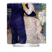 A Dance In The Country Shower Curtain by Pierre Auguste Renoir