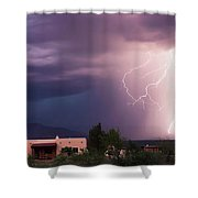 A Dance Of Lightning In The Foothills Shower Curtain