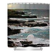A Dangerous Coastline Shower Curtain