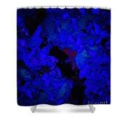 A Dark Blue Crash Shower Curtain