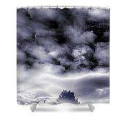 A Dark Heaven's Storm Shower Curtain