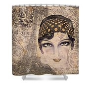 A Date With Paris Shower Curtain