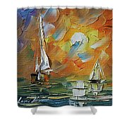 A Date With The Sunset Shower Curtain