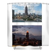 A Day And Night In Atlanta Shower Curtain