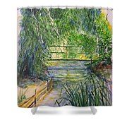 A Day At Giverny Shower Curtain