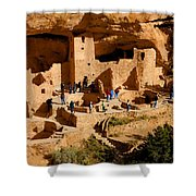 A Day At Mesa Verde Shower Curtain
