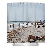A Day At Paradise Beach Shower Curtain