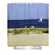 A Day At The Beach - Martha's Vineyard Shower Curtain
