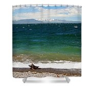 A Day At The Lake Shower Curtain
