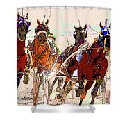 A Day At The Races 2 Shower Curtain