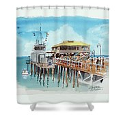 A Day At The Shore Shower Curtain