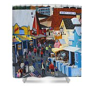 A Day At The Wharf Shower Curtain