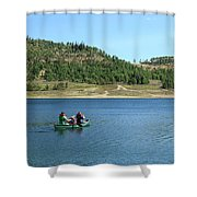 A Day In A Canoe Shower Curtain