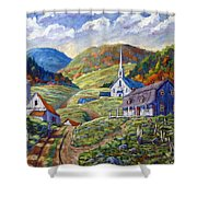 A Day In Our Valley Shower Curtain
