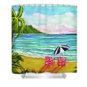 A Day In Paradise #354 Shower Curtain
